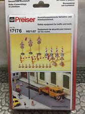 Preiser 17176 HO 1:87; Ausstattungselemente Verkehrs und Arbeitssicherheit , OVP