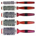 Head Jog Wood Ceramic Radial Round Blow Dry Brush 54 55 56 57 58, LARGE 72 or 73