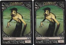 Magic MTG M2011: Token: 2 X Zombie (2/2) Token Card