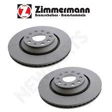 For Audi S3 VW Golf R Pair Set of Rear Left & Right Disc Brake Rotors Zimmermann