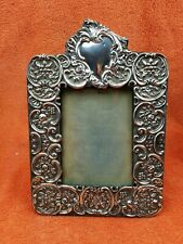 More details for antique sterling silver hallmarked picture frame 1903 w & h sheffield aao