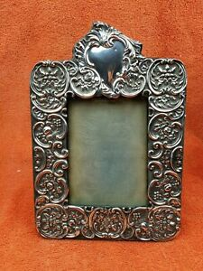 Antique Sterling Silver Hallmarked Picture Frame 1903 W & H Sheffield aao
