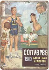 """1963 Converse Basketball Yearbook RARE 10"""" x 7"""" Reproduction Metal Sign"""