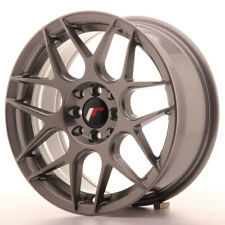 Japan Racing JR18 Alloy Wheel 16x7 - 4x100 / 4x114.3 - ET35 - Gun Mlack