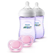 Philips Avent Natural Baby Bottle Purple Gift Set -...