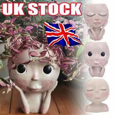 More details for beautiful girls face head flower planter sculptures flower pot garden decor uo