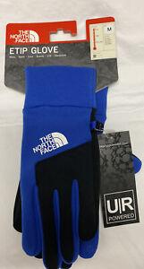 NEW The North Face Etip Winter Unisex Soft Shell Gloves Blue Black UR Powered M