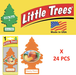 Little Trees Peachy Peach Freshener Air Tree 10319 MADE IN USA Pack of 24