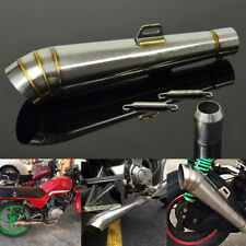 High Quality Stainless 38-51mm Motorcycle GP Slip-On Exhaust Muffler Silencer