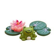 3pcs Miniature Resin Frog Pond set Fairy Mini Garden Terrarium Bonsai Crafts