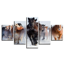 Galloping Horse Racing Animal 5 piece HD Poster Art Wall Home Decor Canvas Print