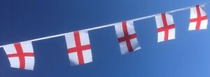 St George England bunting 33ft lengths - free 1st Class postage -Football Rugby