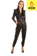 RRP €1160 PHILOSOPHY DI LORENZO SERAFINI Jumpsuit Size 40 / S Wet Look Pleated