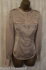 Karen Millen Double Flap Pocket Drape Long Sleeve Shirt Blouse Shirt Top  8 36