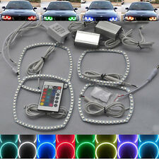 Xenon Headlight RGB remote Multi-Color LED Angel Eye Kit for Dodge Charger 11-14