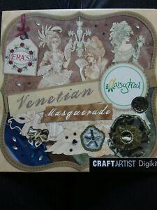 Craft artist Daisytrail VENETIAN MASQUERADE Cd Rom Digikit Serif Scrapbook