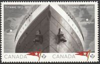 TITANIC = DIE CUT pair from booklet MNH Canada 2012 #2537i
