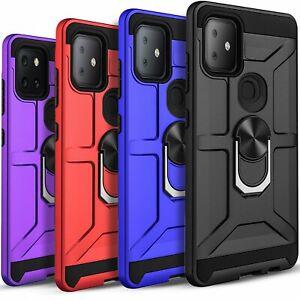 For T-Mobile REVVL 4/ 4 PLUS/ REVVL 5G Case Kickstand + Tempered Glass Protector
