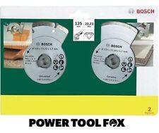 Risparmiatori scelta BOSCH 125 mm Diamond LAME IN CERAMICA/Build 2607019484 3165140416023