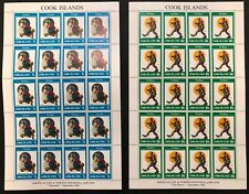 Cook Is. #683-686 4 Sheets of 20 Norman Rockwell 1982 MNH