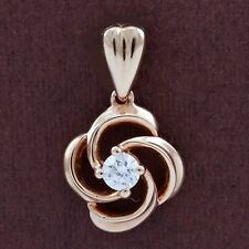 Genuine 18CT Solid Rose Gold Genuine Diamond Pendant
