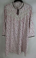 Vintage Ladies M&S Night Dress St Michaels - UK 16/18 - Cotton Poly Mix  Fabric