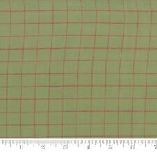 Moda Fabric Snowfall Wovens Check Garland Green - Per 1/4 Metre