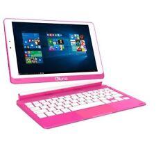 "KURIO SMART >64GB 8.9"" Student Kids 2-In-1 Tablet PC Laptop Windows 10 Blue Pink"