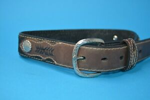 "Nocona KID's leather concho belt 20"""