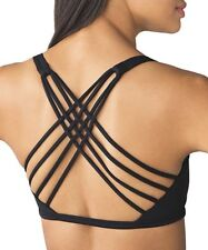 Queenie Ke Womens Yoga Sport Bra Light Support Strappy Free To Be Bra Size L Top