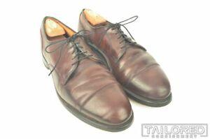 ALLEN EDMONDS Fairgate Burgundy SHELL CORDOVAN Blucher Dress Shoes - 10.5 D