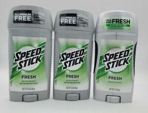 Men's Speed Stick 3 Pack  DeodorantAntiperspirant Fresh Scent Sealed 3.0 oz ea