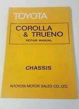 Original Toyota Corolla & Trueno Chassis Repair Manual 98179
