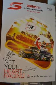 Coates Hire Ipswich Supersprint 2018 signed poster