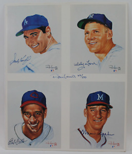 Baseball Pitching Legends framed signed autographed photo! AMCo Authenticated!