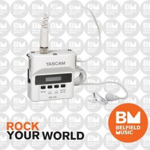 Tascam DR-10L Portable PCM Recorder w/ Lavalier Lapel Microphone - White