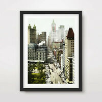 OLD PHOTOS NEW YORK CITY ART PRINT POSTER Streets Decor Wall Picture HIstoric