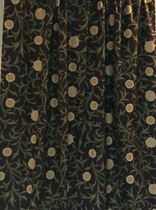 Morris & Co Scroll  fabric Curtains Blackout 2 pr available can be interlined