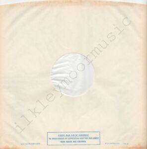 "Vintage INNER SLEEVE or SLEEVES 12"" POLYDOR lined v04 PLASTIC BAGS semi 72 x 1"