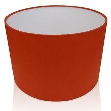 Burnt Orange/Rust Cotton Lampshade,Ceiling Pendant , Table 20cm to 60cm sizes