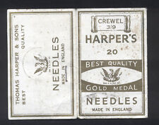 Vintage Needle Pack - Harper'S Best Quality Needles - Made in England
