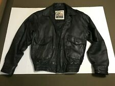 Men's Bomber Style Leather Jacket by New Zealand Outback - Size Med
