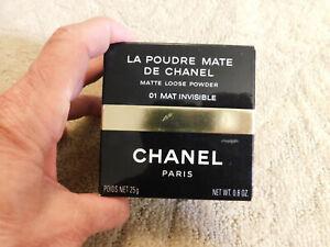New De CHANEL La Poudre Mate Matte loose powder Mat Invisible .8 oz translucent