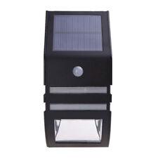 Negro De Energía Solar, Smd Led Luz Lámpara de pared exterior con sensor de PIR
