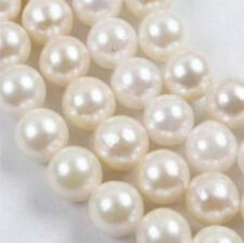 """6-7mm White A+++ Saltwater Akoya Pearl Round Loose Beads 14"""""""