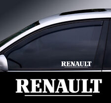2 x Renault Window Decal Sticker Graphic *Colour Choice*