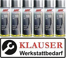 6 x Unterbodenschutz Spray 500ml überlackierbar Farbe: schwarz (9,03€/L)