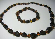 Raw Baltic Amber Necklace and Bracelet