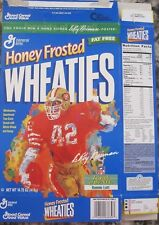 RONNIE LOTT drawn by LEROY NEIMAN 14.75 oz HONEY FROSTED WHEATIES CEREAL BOX