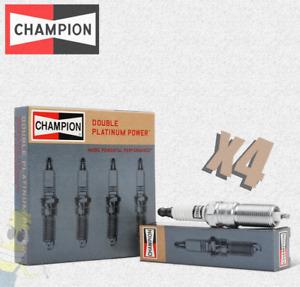 Champion (7304) RS9PYP4 Double Platinum Spark Plug - Set of 4
